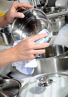 Drying a steamer pan