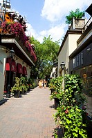 Alleyway, Yorkville, Toronto, Ontario, Canada