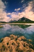 Third Vermilion Lake and Mount Rundle and Sulphur Mountain, Banff National Park, Alberta, Canada