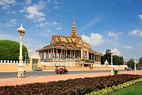 Chan Chhaya Pavillon of the king´s palace in Phnom Penh, Cambodia, Asia