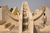 Jantar Mantar architectural astronomical instruments, Jaipur, Rajasthan, India