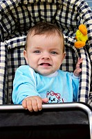 Baby boy in a buggy