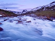 Biseggelva river, Borgefjell National Park, Nordland, Norway, Scandinavia, North Europe