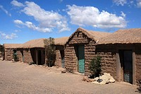 Traditional clay brick village Cangrejillos in the Andes, in the Puna, Province of Salta, Andes, Argentina, South America