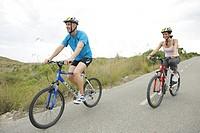 Pair, bicycle helmets, Mountainbikes, biking, ,
