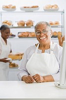 African small business owners in bakery