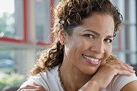Hispanic businesswoman smiling