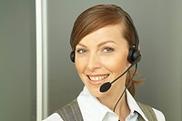 headshot of female call center agent