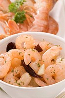 Spanish Cuisine Gambas al ajillo Garlic shrimps