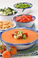 Spanish Cuisine Gazpacho Andalusian cold soup