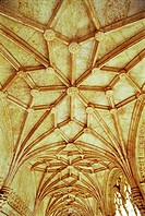 Ceiling, Cloister of the Monastery of the Hieronymites Belem, Lisbon Portugal