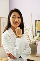 Asian female doctor in office