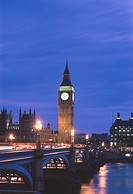 Big Ben Clock Tower, Westminster Bridge, London, England
