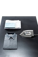 Shirt and electric iron