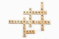 Crossword puzzle of financial terms relating to the economy and personal financial responsibility