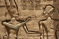 Relief of king Ramses II, Ramesseum Temple, Luxor, Egypt