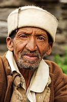 An older man in the village of Malana Himachal Pradesh, India
