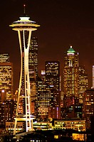 Seattle's skyline at night Washington, United States