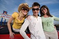 Friends having fun in Las Vegas Nevada USA