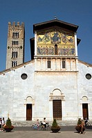 Church of San Frediano, Lucca. Tuscany, Italy