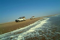 Foz do Cunene (Cunene river's mouth), driving on the sand near the Atlantic ocean, Parque do Iona, Namibe province, Angola