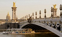 Alexander III bridge over the Seine River, Paris, France, Europe