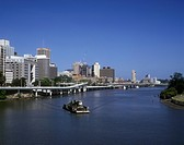 Brisbane _ Modern skyline of Queensland s capital city overlooks the River Brisbane