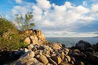Petite Anse Kerlan beach rocks, Praslin island, Seychelles