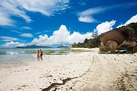 Anse Source d´Argent beach, L´Union Estate Plantation, La Digue island, Seychelles