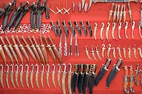 Weapons at a market stall, Pushkar, Rajasthan, India