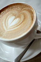 Cappuccino with heart_shaped froth