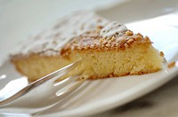 Piece of almond cake
