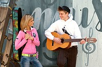 young people, guitar