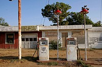 Old gas station, Mineral Wells, Texas, USA