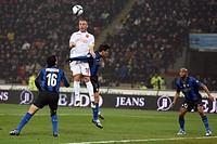 daniele de rossi scores his goal, milano 2009, serie a football championship 2008/2009, inter_roma