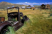 Abandoned gold mining town, Ghost Town, Bodie State Historic Park, California, USA