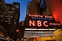 NBC Studios, Rainbow Room and Observation Deck entrance of the GE Building, Rockefeller Center, Manhattan, New York City, New York, USA