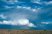 A rain squall forms over Chino Valley, Arizona.
