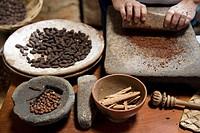 Mexico Tabasco Comalcalco Cocoa Museum Cocoa beans Cocoa milling,