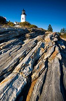 USA, Maine, Pemaquid Point Lighthouse
