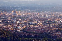 Florence, Italy, seen from the hilltop town of Fiesole.
