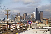 Panoramic View of Downtown Seattle