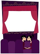 A couple kissing in a movie theater (thumbnail)