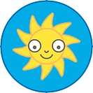 A sun with a smiling face