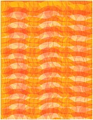 An abstract orange wavy pattern