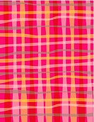 A red, pink and gray wavy plaid pattern