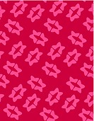 Retro pink flower shapes on red background (thumbnail)