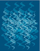 Blue abstract water swirl pattern illustration
