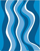 Blue wavy water pattern