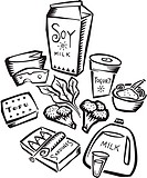 An illustration of foods rich in calcium